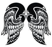 Angel Wings Asas da tatuagem ilustração royalty free