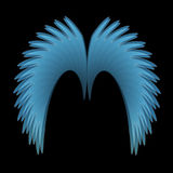 Angel Wings bleu Images stock