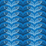Angel wings blue sketch pattern. Vector illustration Royalty Free Stock Photo
