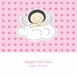 Angel wings on a cloud Royalty Free Stock Photography