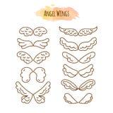 Angel Wings dans la ligne style Image stock