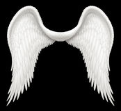 Angel Wings. Digital illustration of angel wings. Including a Clipping Path, it is ready to be composited with other images Royalty Free Stock Image