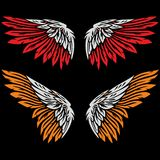 Angel wings drawing illustration Stock Photography
