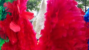 Angel Wings en la fiesta en la calle Río del carnaval