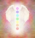 Angel Wings et sept Chakras Illustration Stock