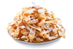 Angel wings Faworki, cakes deep-fried in oil to celebrate Fat Thursday. Angel wings Faworki, are a traditional sweet crisp pastry made out of dough that has been Stock Images