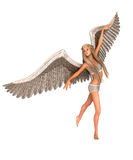 Angel with wings. Female angel with wings in ballet dance pose illustration Stock Photography