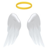 Angel wings and halo Royalty Free Stock Image