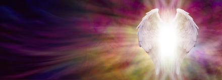 Angel Wings and Healing Light Banner stock illustration