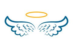 Free Angel Wings Icon With Nimbus - Royalty Free Stock Image - 133985236