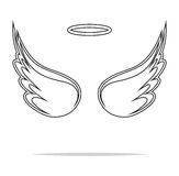 Angel wings  illustration Stock Photography