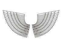 Angel Wings Isolated Asa da pena branca do pássaro ilustração do vetor