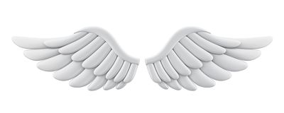 Angel Wings Isolated blanc Images stock