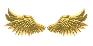 Angel Wings Isolated dourado ilustração stock
