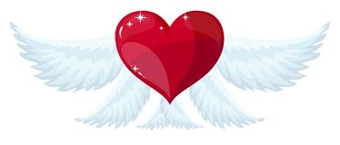 Angel wings over white background. vector illustration Royalty Free Stock Photography