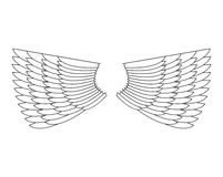 Angel Wings Isolated. White Feather wing of bird Royalty Free Stock Photos