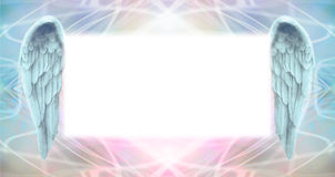 Angel Wings Message Board Royalty Free Stock Images