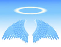 Angel wings and nimbus Royalty Free Stock Photography