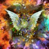 Angel Wings Oil Painting Stock Photography