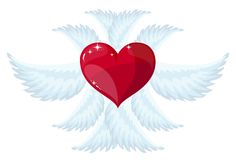 Angel wings over white background. vector illustration Royalty Free Stock Image
