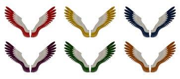 Angel Wings Pack - blandade singelfärger Arkivfoto