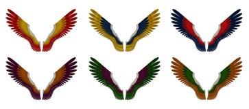 Angel Wings Pack - Geassorteerde Dubbele Kleuren Royalty-vrije Stock Afbeeldingen