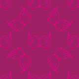 Angel wings seamless lilac pink pattern. Vector illustration Royalty Free Stock Photography