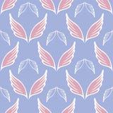 Angel wings seamless sketch pattern Stock Photos