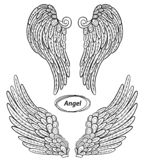 Angel wings set. Abstract vector illustration isolated on white background royalty free illustration