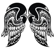 Angel wings.Tattoo wings Stock Images