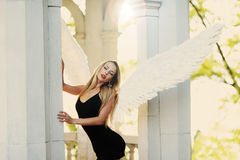 Angel with wings Royalty Free Stock Photos