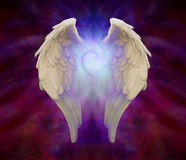 Angel Wings y espiral universal Fotos de archivo libres de regalías