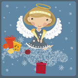 Angel With A Gift Royalty Free Stock Image