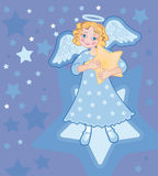 Angel With A Star Royalty Free Stock Images