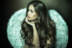 Angel woman Royalty Free Stock Image
