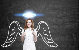 Angel woman doctor Royalty Free Stock Photography