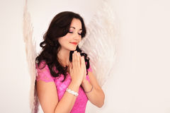 Angel woman praying Royalty Free Stock Photography