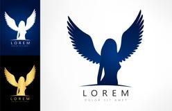 Angel woman symbol. Vector illustration. Angel woman symbol. Logo design vector illustration Royalty Free Stock Photos
