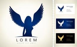 Angel woman symbol. Vector illustration. Angel woman symbol. Logo design vector illustration Stock Photo