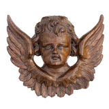 Angel in wood Royalty Free Stock Photos