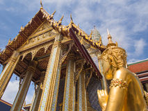 An Angel worship the Emerald Palace, Bangkok Stock Photo