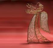 Angel Xmas decoration. Amgel - xmas decoration, red background Royalty Free Stock Photos