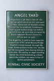 Angel Yard Plaque in Kendal Royalty Free Stock Images