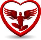 Angel yoga logo Royalty Free Stock Photography
