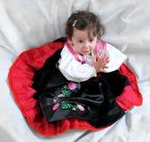 Angela, το κορίτσι στο παραδοσιακό φόρεμα Στοκ εικόνα με δικαίωμα ελεύθερης χρήσης