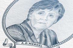 Angela Dorothea Merkel Fotografia Stock