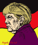 Angela Dorothea Merkel Chancellor of Germany, Leader of the Christian Democratic Union CDU Stock Images