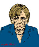 Angela Dorothea Merkel Chancellor of Germany, Leader of the Christian Democratic Union CDU Stock Image