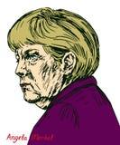 Angela Dorothea Merkel kanclerz Niemcy, lider Chrześcijański Demokratyczny zjednoczenie CDU Zdjęcia Stock