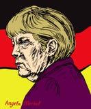 Angela Dorothea Merkel kanclerz Niemcy, lider Chrześcijański Demokratyczny zjednoczenie CDU Obrazy Stock